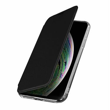 Avizar Etui folio Noir Miroir pour Apple iPhone XS Max Etui folio Noir miroir intégré Apple iPhone XS Max