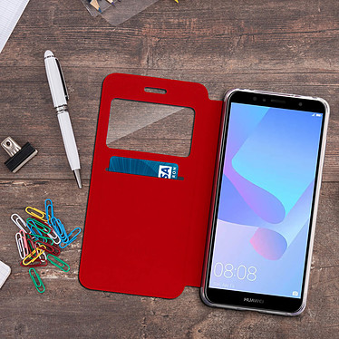 Acheter Avizar Etui folio Rouge pour Honor 7A , Huawei Y6 2018