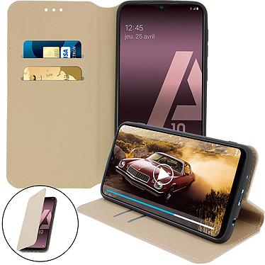 Avizar Etui folio Dorée pour Samsung Galaxy A10 pas cher