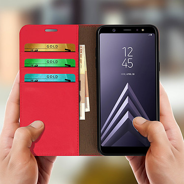 Acheter Avizar Etui folio Rouge pour Samsung Galaxy A6 Plus