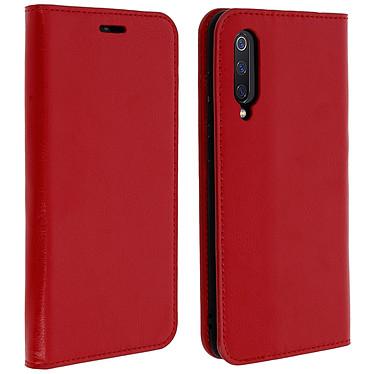 Avizar Etui folio Rouge Cuir véritable pour Xiaomi Mi 9 Etui folio Rouge cuir véritable Xiaomi Mi 9