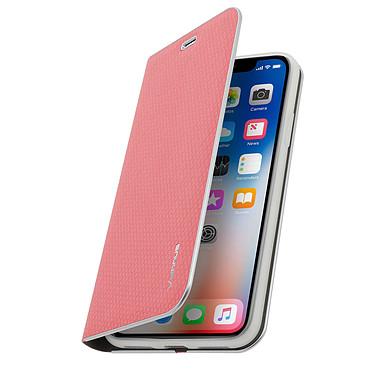 Avizar Etui folio Rose Stand Vidéo pour Apple iPhone X , Apple iPhone XS pas cher