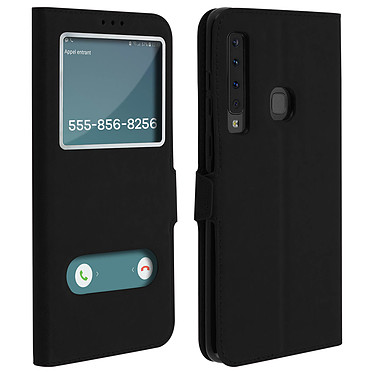 Avizar Etui folio Noir pour Samsung Galaxy A9 2018 Etui folio Noir Samsung Galaxy A9 2018