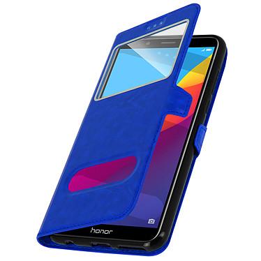 Avizar Etui folio Bleu pour Honor 7A , Huawei Y6 2018 pas cher