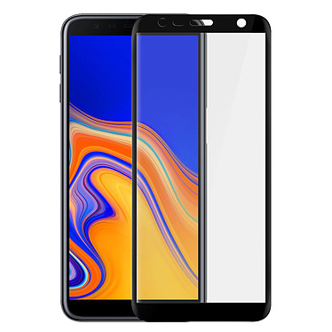 Avizar Film verre trempé Noir pour Samsung Galaxy J6 Plus pas cher