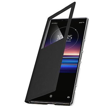 Avizar Etui folio Noir à fenêtre pour Sony Xperia 1 pas cher