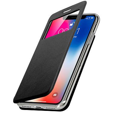 Avizar Etui folio Noir à fenêtre pour Apple iPhone X , Apple iPhone XS Etui folio Noir à fenêtre Apple iPhone X , Apple iPhone XS