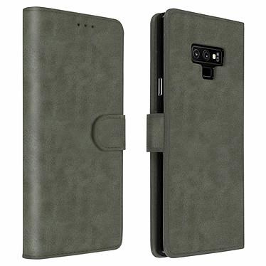 Avizar Etui folio Gris pour Samsung Galaxy Note 9 Etui folio Gris Samsung Galaxy Note 9