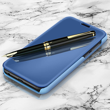 Avizar Etui folio Bleu pour Huawei Y5 2018 , Honor 7S pas cher