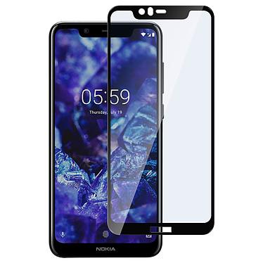 Avizar Film verre trempé Noir pour Nokia 5.1 Plus pas cher