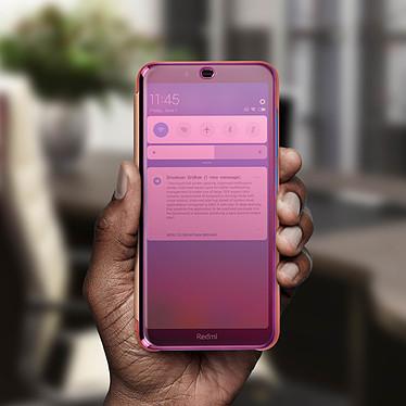 Avis Avizar Etui folio Rose Champagne Design Miroir pour Xiaomi Redmi 7A