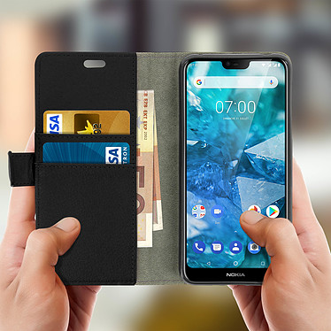 Acheter Avizar Etui folio Noir pour Nokia 7.1