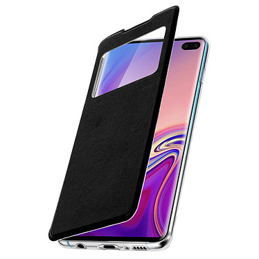 Avizar Etui folio Noir pour Samsung Galaxy S10 Plus pas cher
