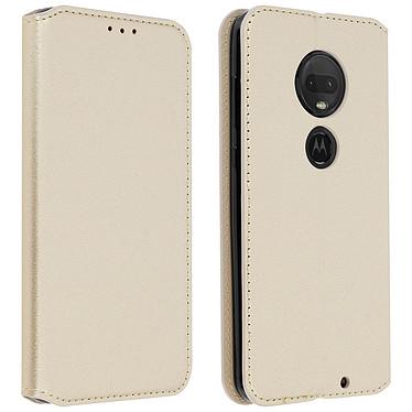 Avizar Etui folio Dorée pour Motorola Moto G7 , Motorola Moto G7 Plus Etui folio Dorée Motorola Moto G7 , Motorola Moto G7 Plus