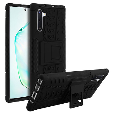 Avizar Coque Noir Bi-matières pour Samsung Galaxy Note 10 pas cher