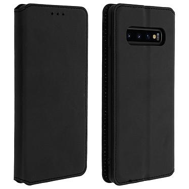 Avizar Etui folio Noir Éco-cuir pour Samsung Galaxy S10 Etui folio Noir éco-cuir Samsung Galaxy S10