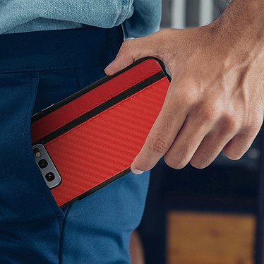Avis Avizar Coque Rouge Bi-matièrespour Samsung Galaxy S10e