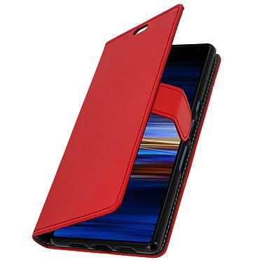 Avizar Etui folio Rouge Éco-cuir pour Sony Xperia 10 Plus pas cher