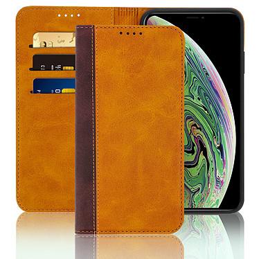 Avizar Etui folio Camel pour Apple iPhone XS Max pas cher