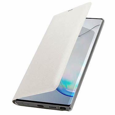 Avizar Etui folio Blanc Porte-Carte pour Samsung Galaxy Note 10 Plus pas cher