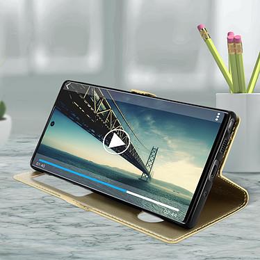 Avis Avizar Etui folio Dorée pour Samsung Galaxy Note 10 Plus