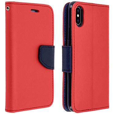 Avizar Etui folio Rouge Fancy Style pour Apple iPhone XS Max Etui folio Rouge Fancy Style Apple iPhone XS Max