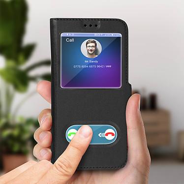 Acheter Avizar Etui folio Noir à fenêtre pour Samsung Galaxy J6