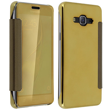 Acheter Avizar Etui folio Dorée pour Samsung Galaxy J3