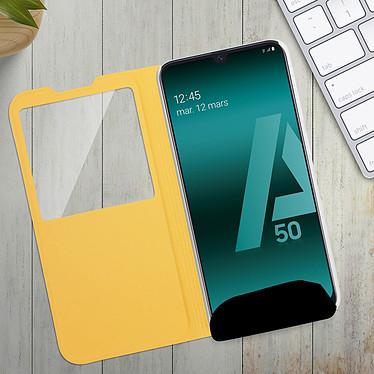 Avis Avizar Etui folio Dorée pour Samsung Galaxy A50 , Samsung Galaxy A30s