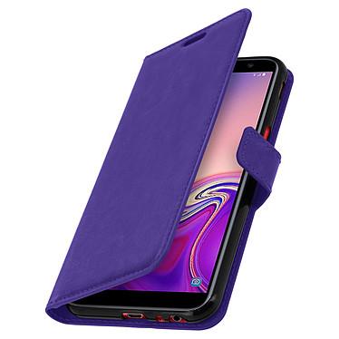 Avizar Etui folio Violet pour Samsung Galaxy J6 Plus pas cher
