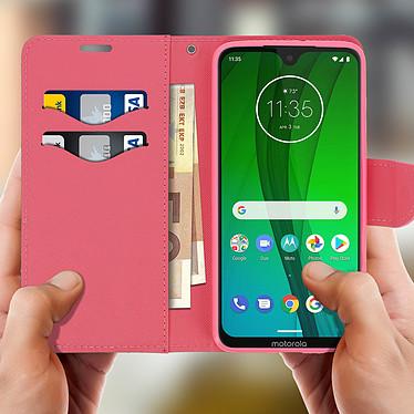 Acheter Avizar Etui folio Rose pour Motorola Moto G7 , Motorola Moto G7 Plus