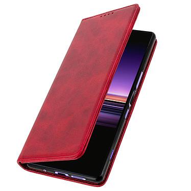 Avizar Etui folio Rouge Vieilli pour Sony Xperia 1 pas cher