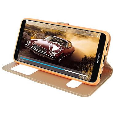 Avis Avizar Etui folio Dorée Éco-cuir pour Huawei P Smart
