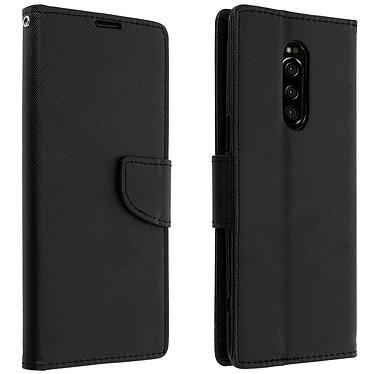 Avizar Etui folio Noir Fancy Style pour Sony Xperia 1 Etui folio Noir Fancy Style Sony Xperia 1