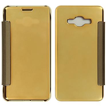 Avizar Etui folio Dorée pour Samsung Galaxy J3 Etui folio Dorée Samsung Galaxy J3