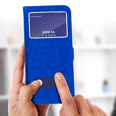 Acheter Avizar Etui folio Bleu Éco-cuir pour Samsung Galaxy S8 Plus