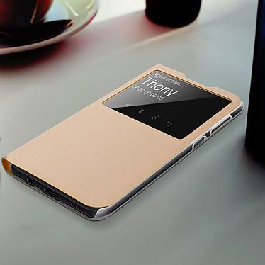 Acheter Avizar Etui folio Dorée pour Samsung Galaxy A50 , Samsung Galaxy A30s