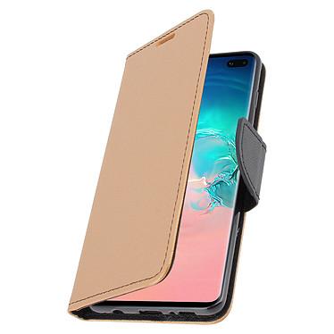 Avizar Etui folio Dorée Fancy Style pour Samsung Galaxy S10 Plus pas cher