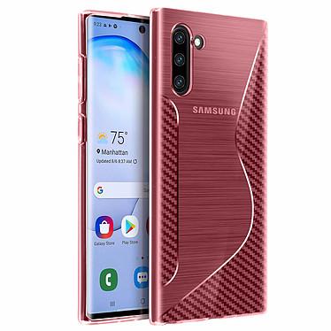 Avizar Coque Rose S-Line pour Samsung Galaxy Note 10 pas cher