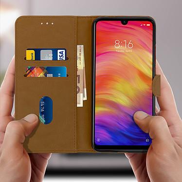 Acheter Avizar Etui folio Marron Porte-Carte pour Xiaomi Redmi Note 7