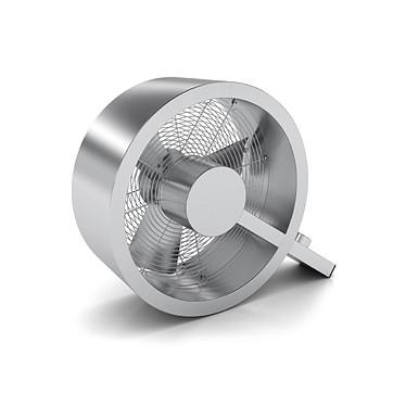 Stadler Form Q Alu brossé Ventilateur design en aluminium brossé, 3 vitesses