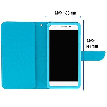 Acheter Avizar Etui folio Turquoise pour Smartphones de 5.3' à 5.5'