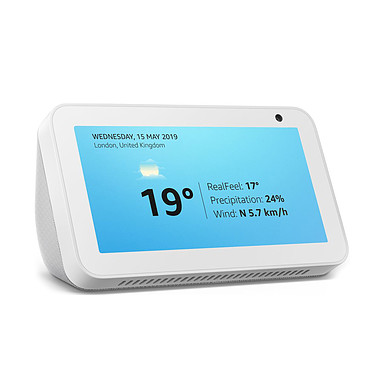 Amazon Echo Show 5 Blanc Assistant vocal Amazon Alexa avec écran couleur 5.5""