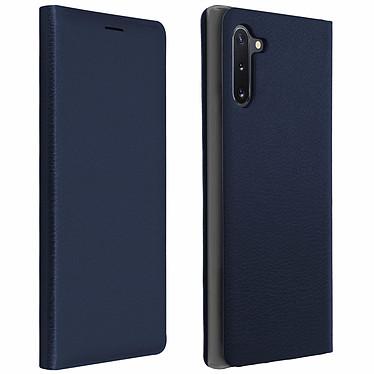 Avizar Etui folio Bleu Nuit Porte-Carte pour Samsung Galaxy Note 10 Etui folio Bleu Nuit avec porte-carte Samsung Galaxy Note 10