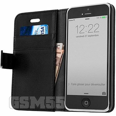 Avizar Etui folio Noir pour Apple iPhone 5C pas cher