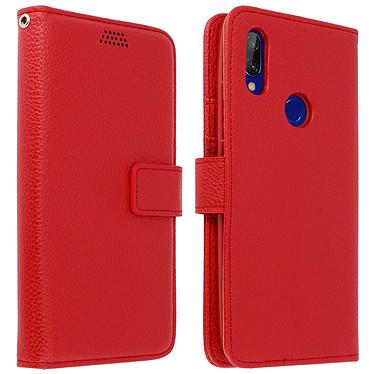 Avizar Etui folio Rouge pour Xiaomi Redmi 7 Etui folio Rouge Xiaomi Redmi 7