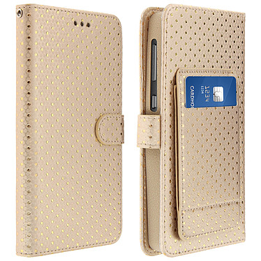 Avizar Etui folio Dorée pour Smartphones de 5.3' à 5.5' Etui folio Dorée Smartphones de 5.3' à 5.5'