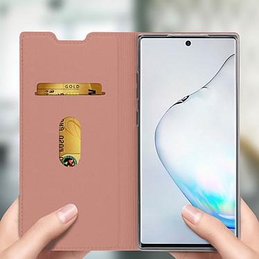Avis Avizar Etui folio Rose Champagne Éco-cuir pour Samsung Galaxy Note 10 Plus