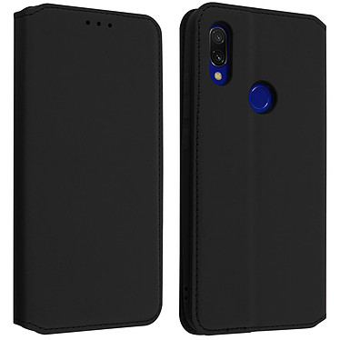 Avizar Etui folio Noir Éco-cuir pour Xiaomi Redmi 7 Etui folio Noir éco-cuir Xiaomi Redmi 7