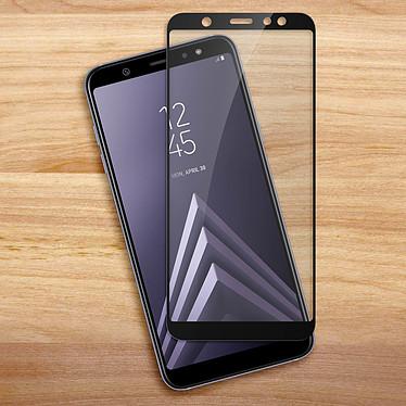 Acheter Avizar Film verre trempé Noir pour Samsung Galaxy A6 Plus